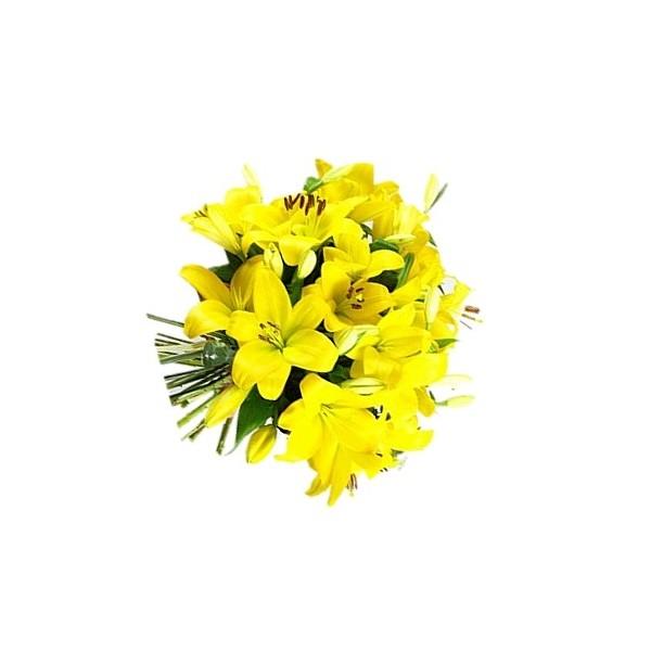 Ramo lilium amarillos a domicilio enamora con rosas cl for Plantas a domicilio santiago