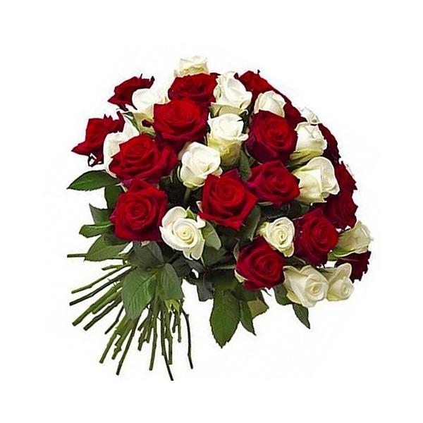 Ramo 50 Rosas y Blancas