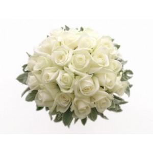 Ramo 18 Rosas Blancas A Domicilio - Imagenes-de-ramos-de-rosas-blancas