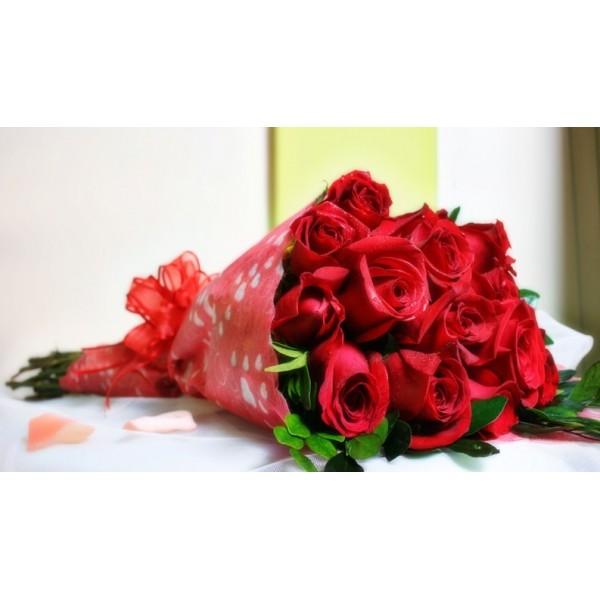 ramo 15 rosas ecuatorianas tallo largo a domicilio - Fotos De Rosas Rojas Grandes